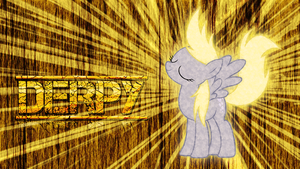 Derpy 'Strike' Wallpaper by EmbersAtDawn