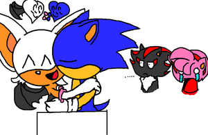 the cutest sonic couple ever by silvazelover2