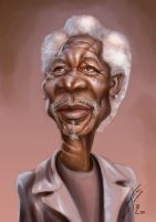 Morgan Freeman by bogdancovaciu