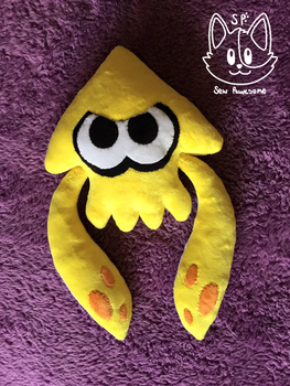 Angry Yellow Squid Plush by SewPawesome