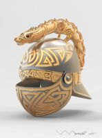 Dragon-helm of Dor-lomin by ivanalekseich