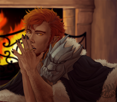 By the Fire by Lanaluu