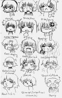 Chibi Expressions by Potential-Success