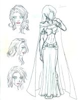 Character Sketch - Sorcerer by Morgaine-le-Fay