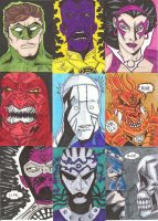 Blackest Night Sketch Cards by nathanobrien