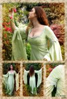 """Breath of Spring"" elven dress by lady-narven"