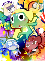 Keroro Platoon by pianno-ribbon