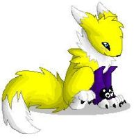 Little Renamon by demonshadowscry