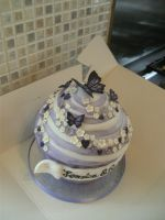 Purple Wedding Giant Cup Cake by gertygetsgangster