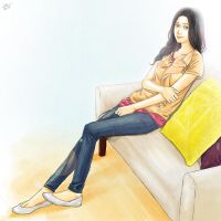 Girl on Sofa by clanto