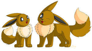 Dream Eevees by racingwolf