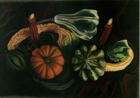 gourds still life by darkcutie88