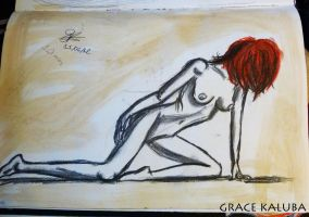 LIFE DRAWING - WOMAN 2 by graceofaeons