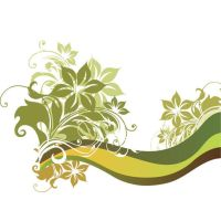 abstract green flyer wallpaper by cgvector