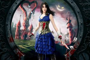 Alice in Wonderland: A different dream by LittleBlondeGoth