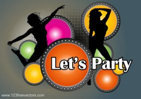 Party Poster Vector by 123freevectors
