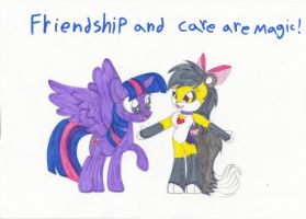 FRIENDSHIP AND CARE ARE MAGIC! by RoxasPikachu