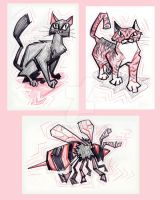 Cats N Bee by Stnk13