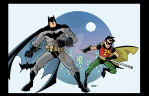 Batman and Robin cartoon by Chadfuller