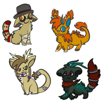 chibis for Sir-Raychu by alfvie