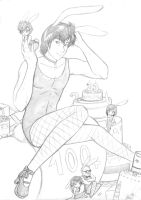 City Hunter bunny harem by Tenshi--no--yume