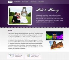 Asli and Harry Wedding Website by Maquita