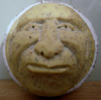 Balls to the Wall another Carved Golfball by Des804