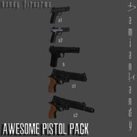 Awesome Pistols Pack by DamianHandy