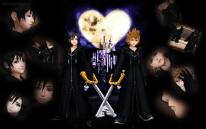 Xion and Roxas by OathkeeperKeyblade