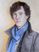 Portrait of Benedict Cumberbatch as Sherlock by Trilly21