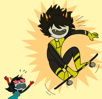 a moment of joy before the impending doom by HomestuckFanPoop