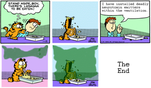 Garfield as written by GLaDOS by GigaSpine7