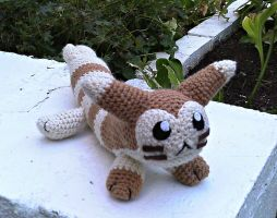 Punch the Crochet Furret Plush by ArtisansShadow