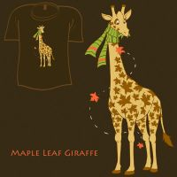 Woot Shirt - Maple Leaf Giraff by fablefire