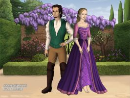 The Tudors: Flynn Rider and Rapunzel by moonprincess22