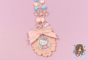 Hello Kitty Cameo Necklace by PeppermintPuff