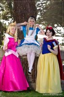 Two Princesses and an Alice by NovemberCosplay