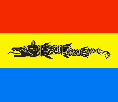 Dacian Draco,Dacian Wolf with the Romanian Flag. by RomanianNationalist