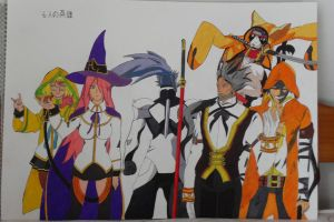 blazblue the six heroes by demonjester55