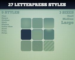 27 Letterpress Styles by dquzma