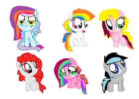 My Little Mane 6 by cottoncloudyfilly