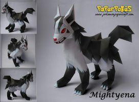 Mightyena Papercraft by Olber-Correa