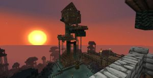 Survival Mode Tree house by shadwgrl