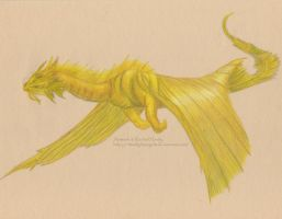 Gold Dragon in Flight by 8TwilightAngel8