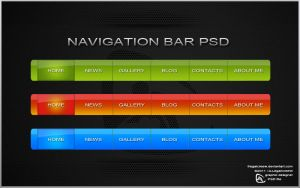 Navigation Bar PSD file by ComyDesigns
