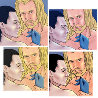 Sketch - Thorki, light color test by ChinSung