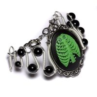 Steamgoth Anatomy Bracelet by CatherinetteRings