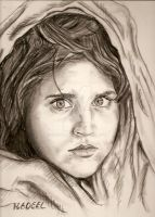 Afghan Girl by Choklate