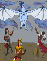 Here there be Dragons (collab) by scrap-paper22