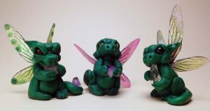 Pixie Dragon Sculptures by The-GoblinQueen